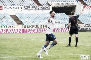 Marc Vales anotó su primer tanto con la camiseta del Real Zaragoza