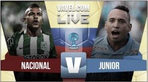 Resultado Atlético Nacional vs Junior por la final de ida de la Copa Águila (2-1)