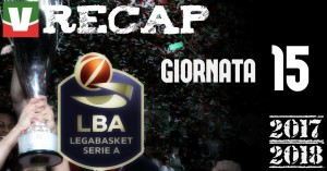 Legabasket: risultati e tabellini dell'ultima giornata di andata