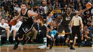 Draymond Green y Brook Lopez, Jugadores de la Semana