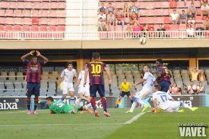 El Barça B se luce ante el Zaragoza