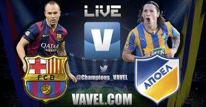 Partido Barcelona vs Apoel en vivo online