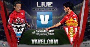 Resultado Mirandés 0-2 Sporting de Gijón en Liga Adelante 2014