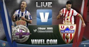 Deportivo de La Coruña vs Almería en vivo y en directo online