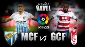 Málaga CF-Granada CF: un derbi para medir opciones