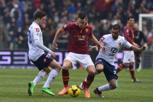 Partido Genoa vs Roma en la Serie A 2015 (0-1)