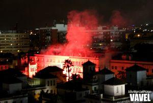 Incidentes en los aledaños del Benito Villamarín tras la derrota ante el Alavés