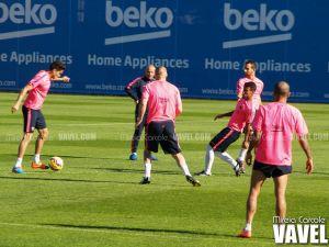 Sesión sin Neymar ni Messi