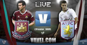 West Ham United vs Aston Villa en vivo y en directo online