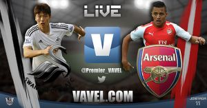 Swansea City vs Arsenal Live Commentary and Score of EPL 2014