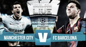 Score Manchester City vs Barcelona (1-2)
