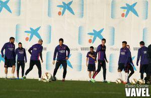 Último entrenamiento antes del duelo copero ante el Villarreal