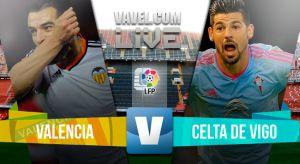 Resultado Valencia vs Celta de Vigo (1-1)