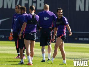 El Barça prepara el encuentro ante el Valencia