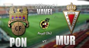 Resultado Pontevedra 1-3 Real Murcia en ida playoffs Segunda División B 2017