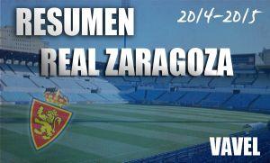 Resumen temporada 2014/2015 del Real Zaragoza: a las puertas del cielo