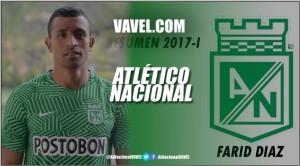Resumen Atlético Nacional 2017-I: Farid Díaz, el constante por la banda izquierda