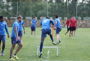 Aranda, Mainz y Brahimi trabajaron en el gimnasio en la primera jornada en Marbella