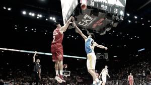 Risultato finale EA7 Milano - Capo d'Orlando in play-off Legabasket serie A 2016/2017 (80-87): i siciliani sbancono il Forum