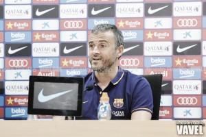 """Luis Enrique: """"Estoy muy contento de estar en el Barça trabajando y haciendo las cosas bien"""""""