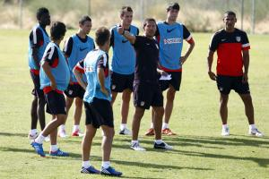 El Atlético prepara su primer amistoso contra la Gimnástica Segoviana