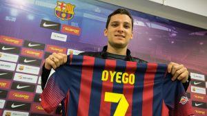 """Dyego: """"Es un placer estar en el Barça, estoy realizando un sueño"""""""
