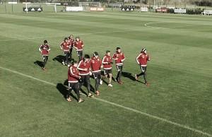Mañana de trabajos aeróbicos y de capacidad física en Ezeiza