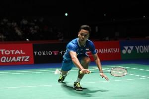 Kunci Anthony Ginting Tumbangkan Lin Dan di China Open 2018