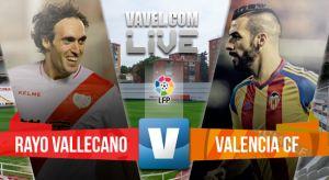 Resultado del Rayo Vallecano vs Valencia en la Liga BBVA 2015 (0-0)