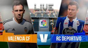 ResultadoValencia vs Deportivo de La Coruña en la Liga BBVA 2015 (1-1)