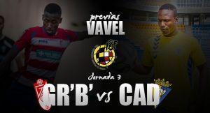 Granada B - Cádiz CF: duelo de pegadas en el Nuevo Los Cármenes