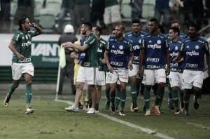 """Jogadores celebram triunfo no clássico: """"Contentes e o torcedor também, Palmeiras merecia"""""""