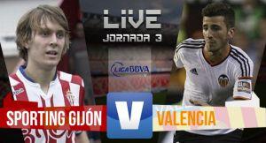 Resultado Sporting de Gijón vs Valencia en la Liga BBVA 2015 (0-1)
