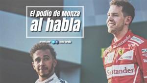 El podio de Monza al habla: sabotaje en tierras italianas