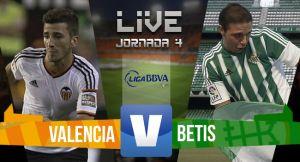 Resultado Valencia vs Real Betis en la Liga BBVA 2015 (0-0)