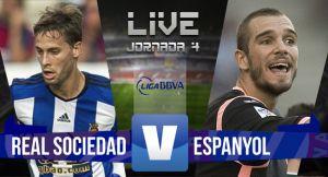 Resultado Real Sociedad vs Espanyol en la Liga BBVA 2015 (2-3)