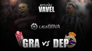 Granada - Deportivo de La Coruña: duelo de situaciones distintas