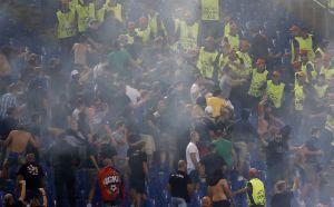 Roma - Cska Mosca, scontri tra tifosi