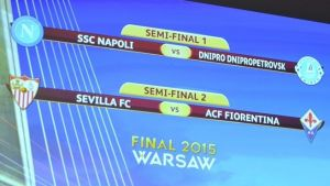 Europa League semi-final draw: Sevilla face Fiorentina whilst Napoli take on Dnipro