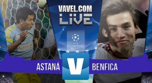 Astana vs Benfica en Champions League 2015 (2-2): a octavos de final