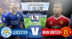 Score Leicester City vs Manchester United in PL 2015(1-1)