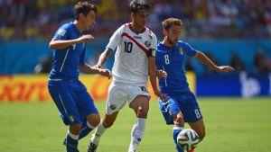 Italia - Costa Rica, puntuaciones de Costa Rica, jornada 2, grupo D
