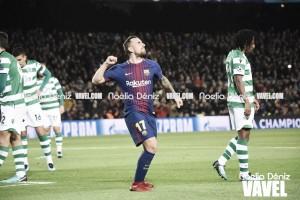 Un Barça inédito hace losdeberes contra el Sporting