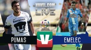 Pumas vence a Emelec por 4-2 con un jugador menos
