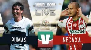 Resultado y goles del partido Pumas 1-2 Necaxa en Copa la MX 2018