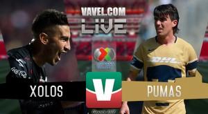 Resultados y goles del Xolos 4-1 Pumas de la Liga MX 2018