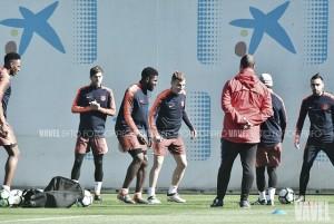 Sesión matinal tras la victoria en Copa Cataluña