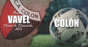 Resumen VAVEL Torneo de Transición 2016: Colón de Santa Fe