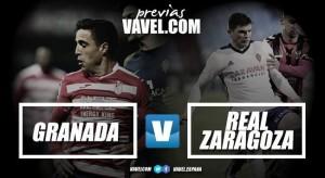 Previa Granada CF - Real Zaragoza: Lucha por el afianzamiento de objetivos