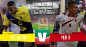 Ecuador y Perú empatan en el duelo más vibrante en lo que va del Centenario